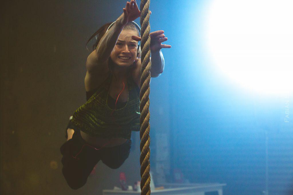Marlee performing a stunt