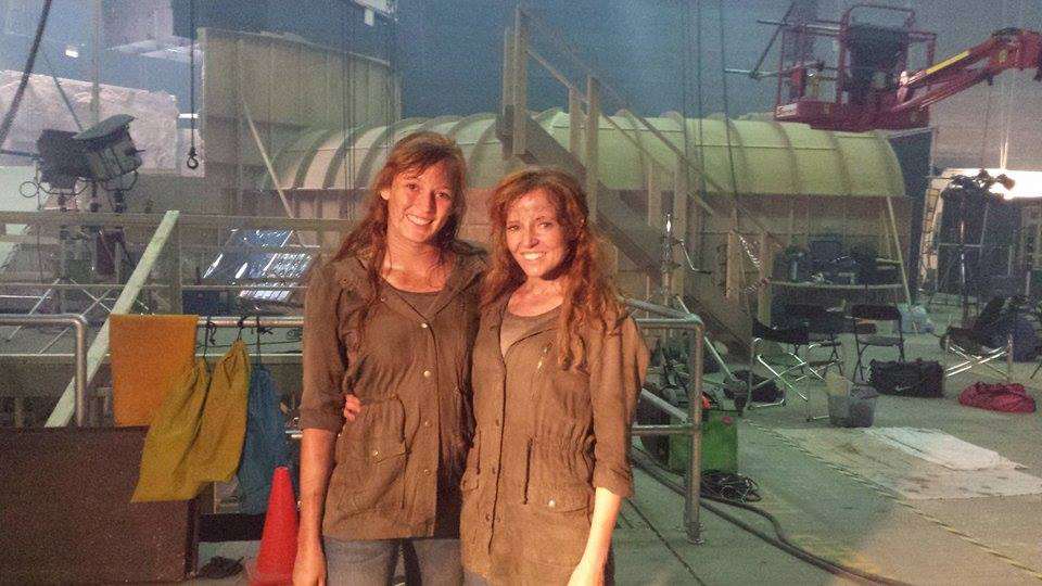 Marlee as a stunt double to Stef Dawson