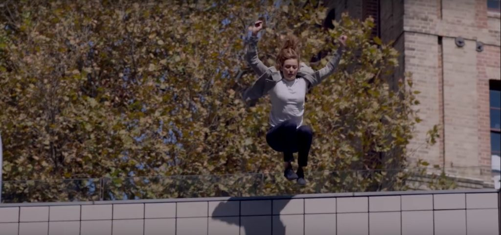 Marlee leaps into action for a Toyota commercial