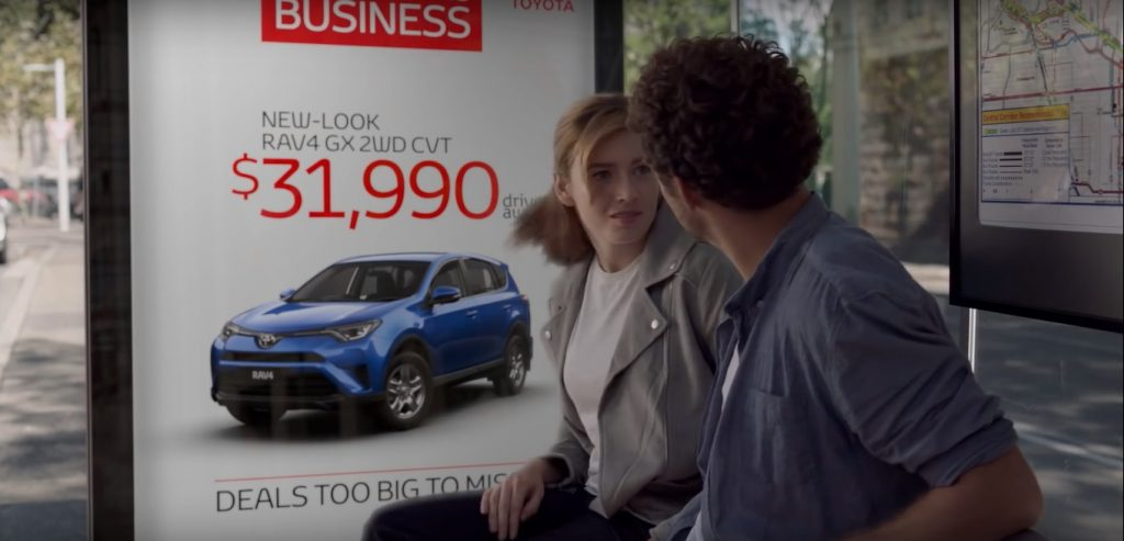Marlee featured in a commercial for Toyota