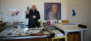 Charles Sluga at his Yackandandah Studio.