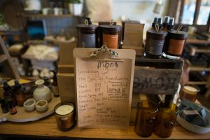 A collection of pampering goodies from The Spa Beechworth