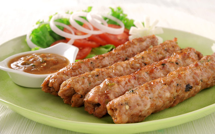 Hot and spicy delicious Seekh Kabab from Myrrhee Boer Goats. Photo: More Than Food