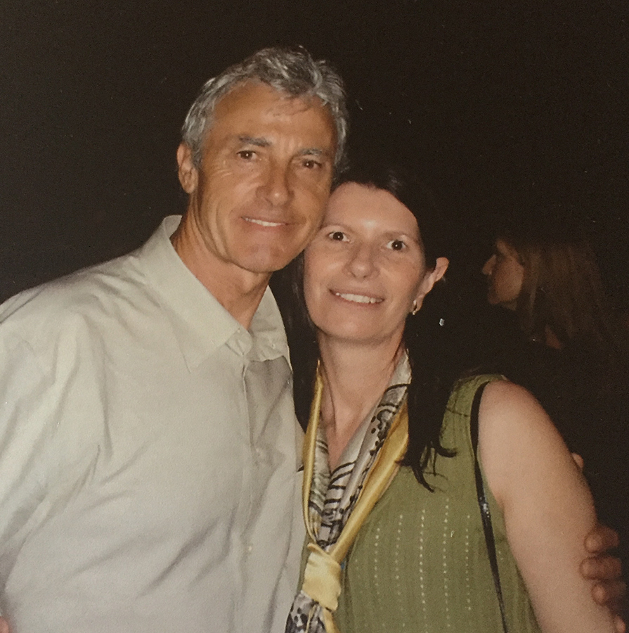 The late Peter Brock, athlete liaison officer (AOL) with Robyne for the Athens Olympics.