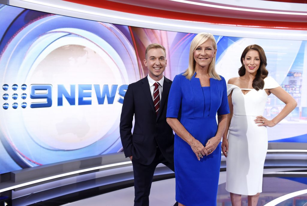 The Nine News Border North East team, Nathan Currie, Jo Hall and Sonia Marinelli. Photo: Martin Philbey