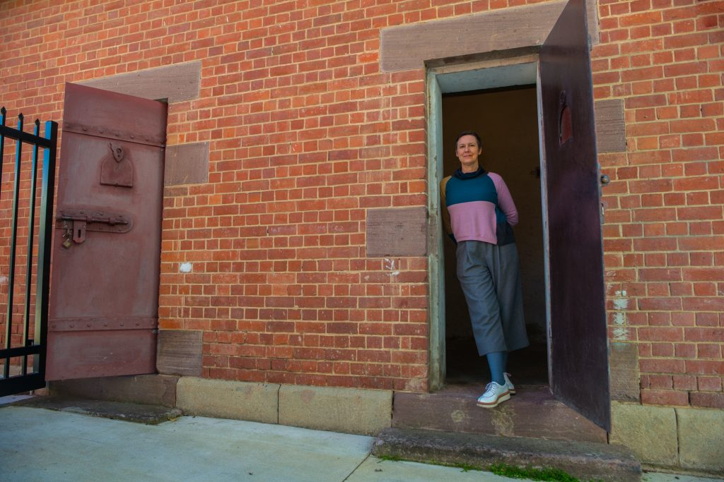 Anna Tregloan at the former holding cells in Albury.